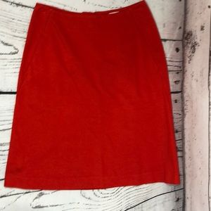 Cabi size 0 A- Line Red Skirt